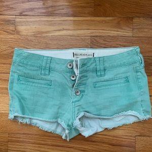 Bullhead black teal shorts